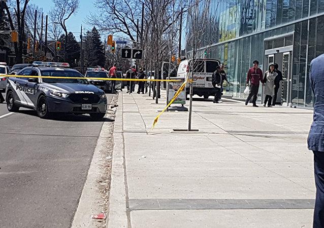 El lugar del atropello en Toronto