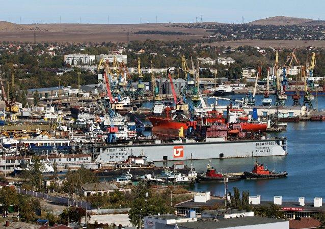 Un puerto en Crimea