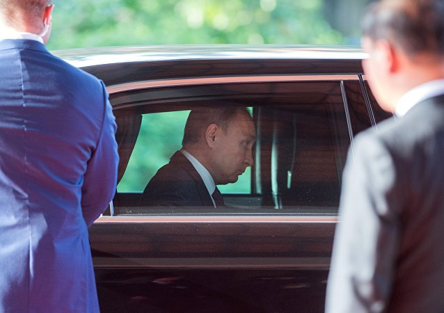 Vladímir Putin, presidente de Rusia, en un automóvil