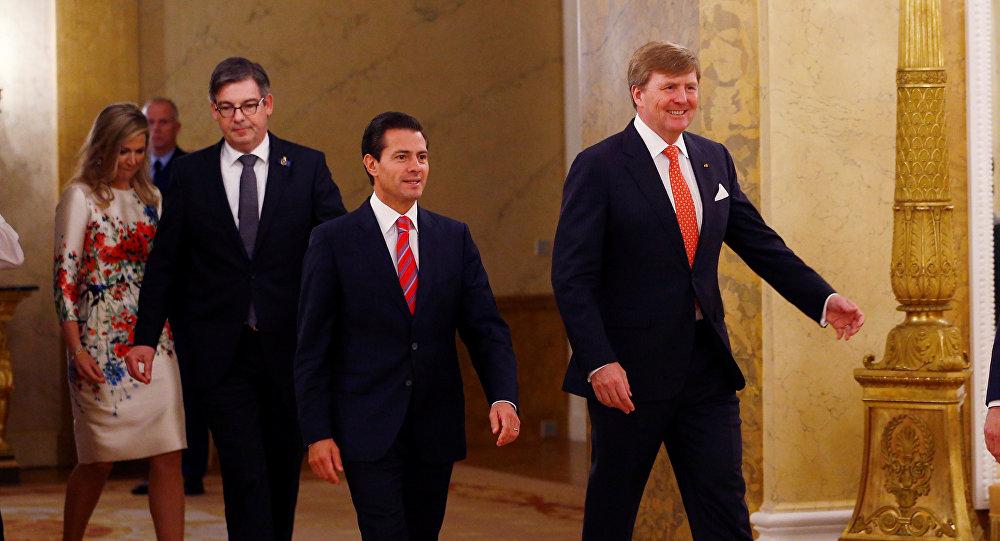 Presidente Mexicano Se Reúne Con Rey De Países Bajos En Visita