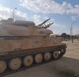 El blindado antiaéreo soviético ZSU-23-4, apodado 'la trilladora infernal', entre los vehículos cedidos por los grupos armados en Al Qalamun Oriental
