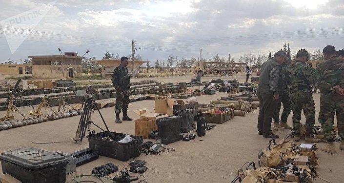 Las armas cedidas por los grupos armados en Al Qalamun Oriental en el marco del acuerdo de evacuación