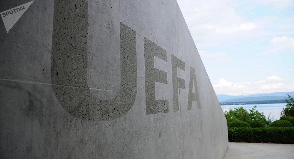 Sede de UEFA en Nyon, Suiza (archivo)