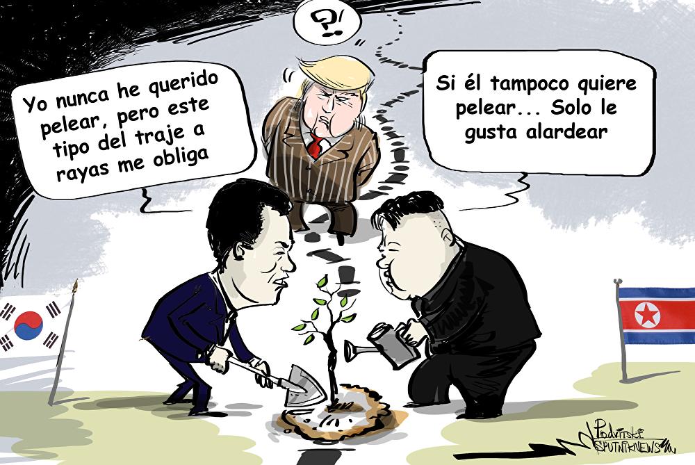 Los líderes de las dos Coreas plantarán un árbol en la línea de demarcación militar que separa los dos países