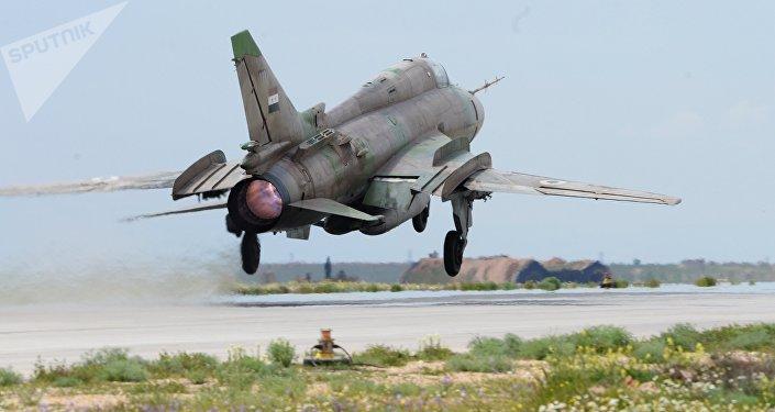 Un avión de las Fuerzas Aéreas de Siria (archivo)