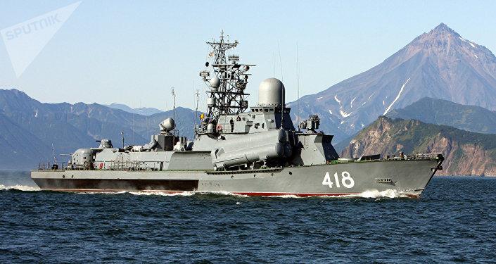 Un buque de la Flota Rusa del Pacífico