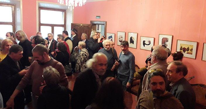 Exposicion de caricaturas de Ares en Moscú