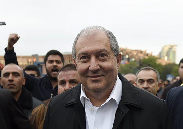 Armén Sarkisián, el presidente de Armenia