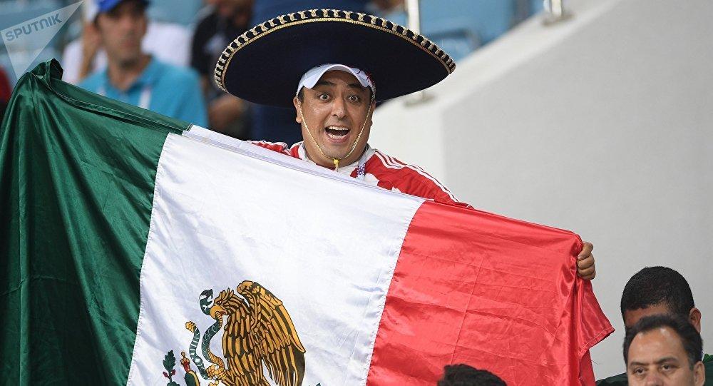 Un hincha mexicano