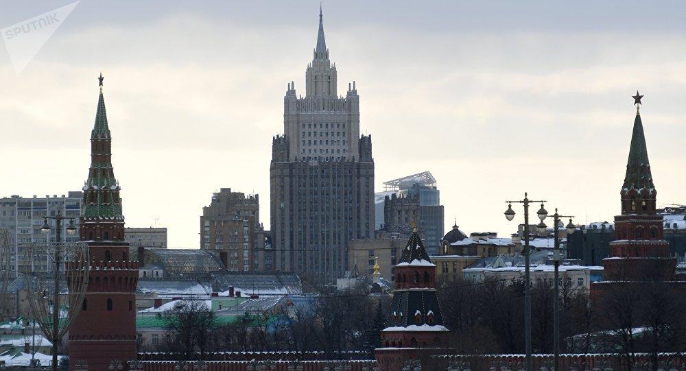 El edificio del Ministerio de Asuntos Exteriores de Rusia
