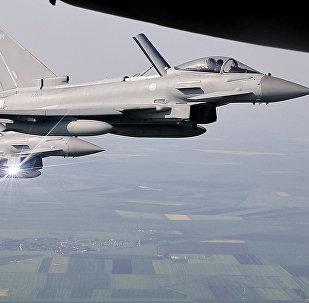 Cazas británicos Typhoon en Rumanía