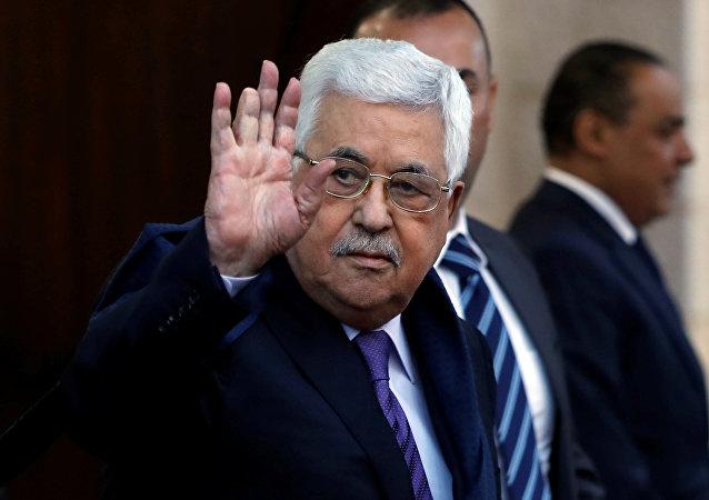 El presidente de la Autoridad Palestina, Mahmud Abás