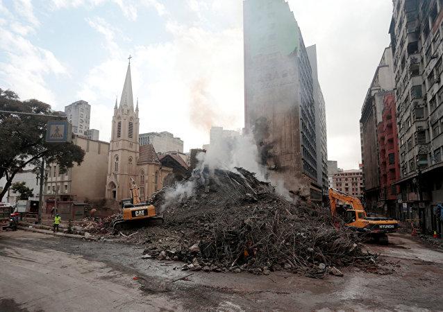 Situación en Sao Paulo tras el derrumbe de un edificio