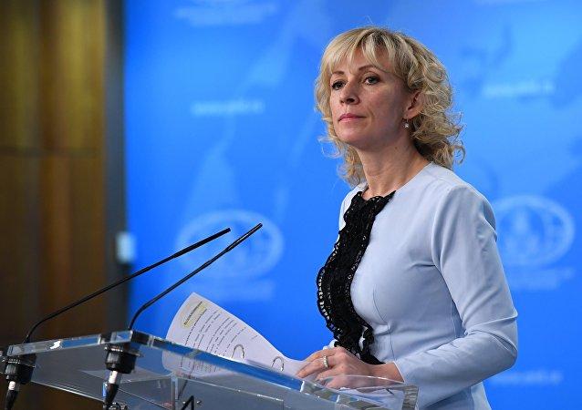 María Zajárova, la portavoz de la Cancillería rusa