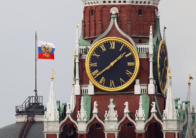 El Estandarte del presidente de la Federación de Rusia en Kremlin (archivo)