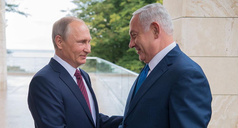 Presidente de Rusia, Vladímir Putin, y primer ministro de Israel, Benjamín Netanyahu (archivo)