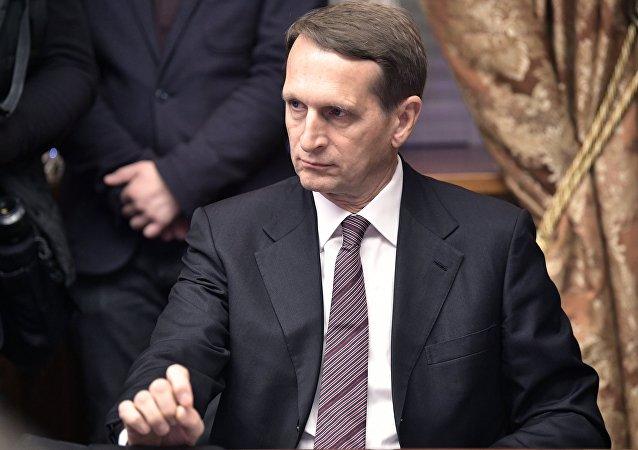 Serguéi Narishkin, director del Servicio Exterior de Inteligencia de Rusia