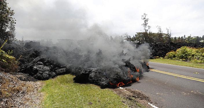 La lava del volcán Kilauea en Hawái, 5 de marzo de 2018