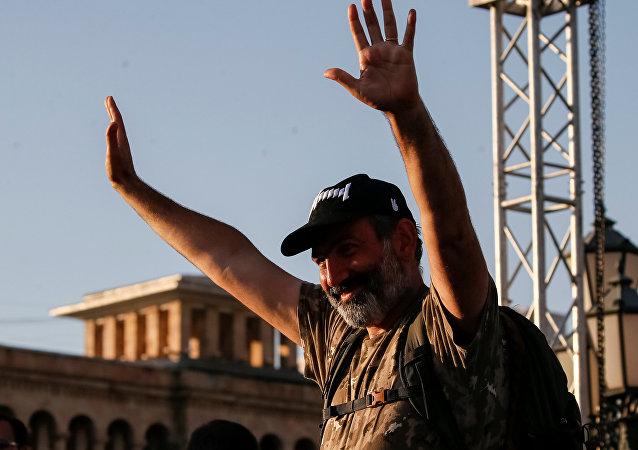 Nikol Pashinián, el líder de la fracción opositora parlamentaria Elk