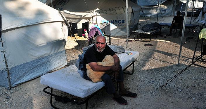 El campo de refugiados de Lagadikia, Grecia (archivo)