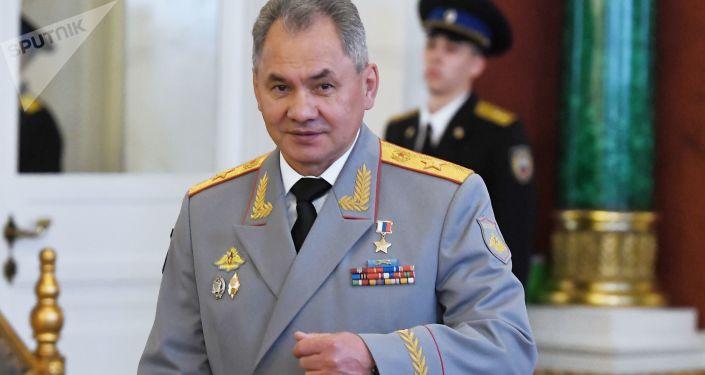 El ministro de Defensa de Rusia, Serguéi Shoigú, en Kremlin