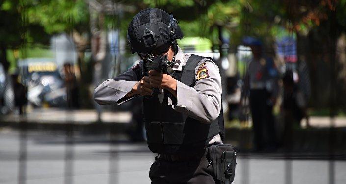 Policía de Indonesia (imagen referencial)