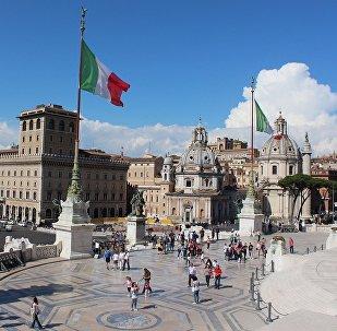 La bandera de Italia en Roma (archivo)