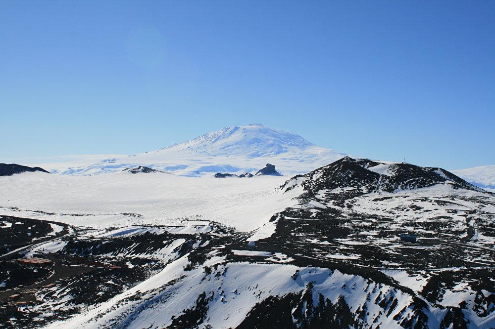 Vista del volcán Erebus