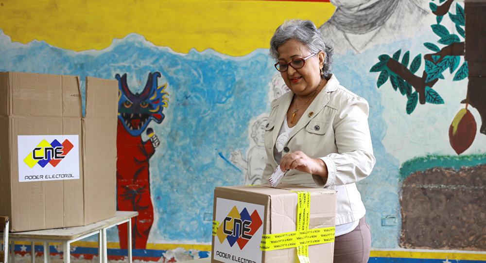 Simulacro de las elecciones en Venezuela