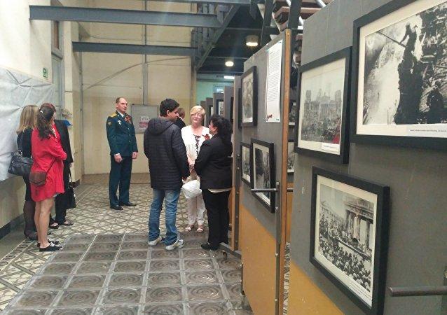 Exposición de fotos en Montevideo por la victoria en la Gran Guerra Patria de Rusia