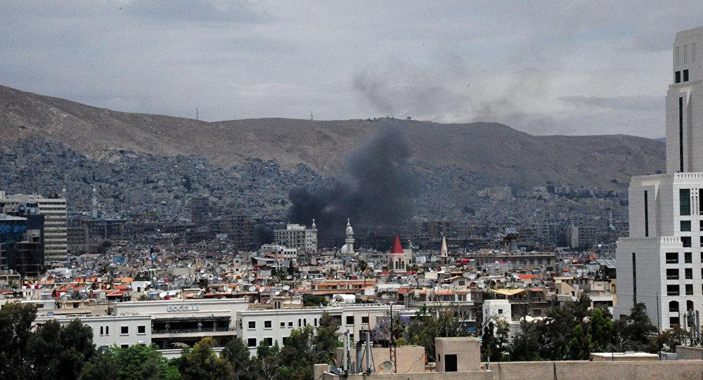 Humo en Damasco, Siria (archivo)