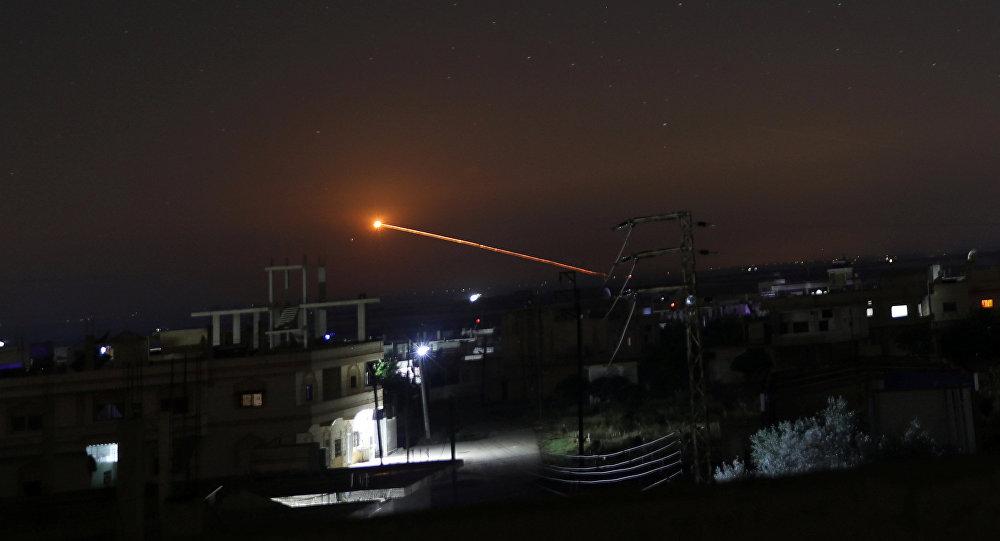 Un misil lanzado en Siria