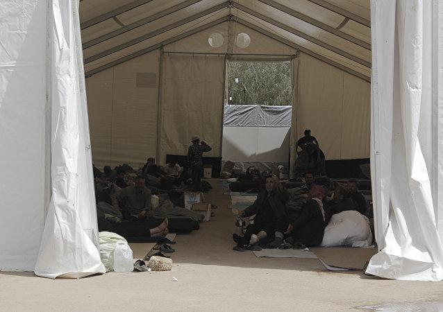 Un campamento para refugiados sirio