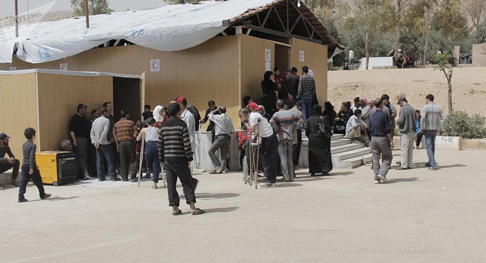 Uno de los campamentos para refugiados en los que vivían los desplazados de Guta Oriental (archivo)