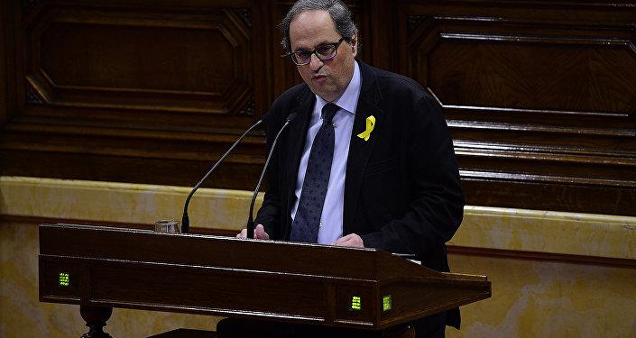 Quim Torra, diputado de Junts Per Catalunya