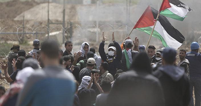 Protestas de los palestinos
