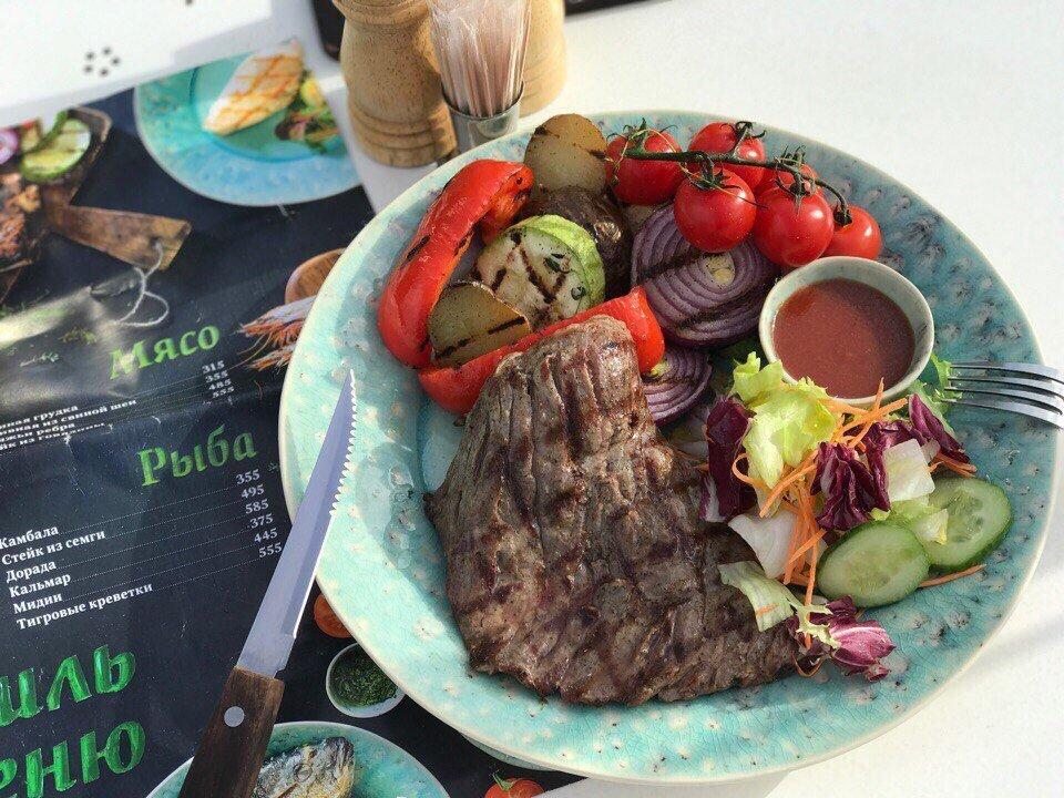 Un plato en el restaurante Donna Olivia
