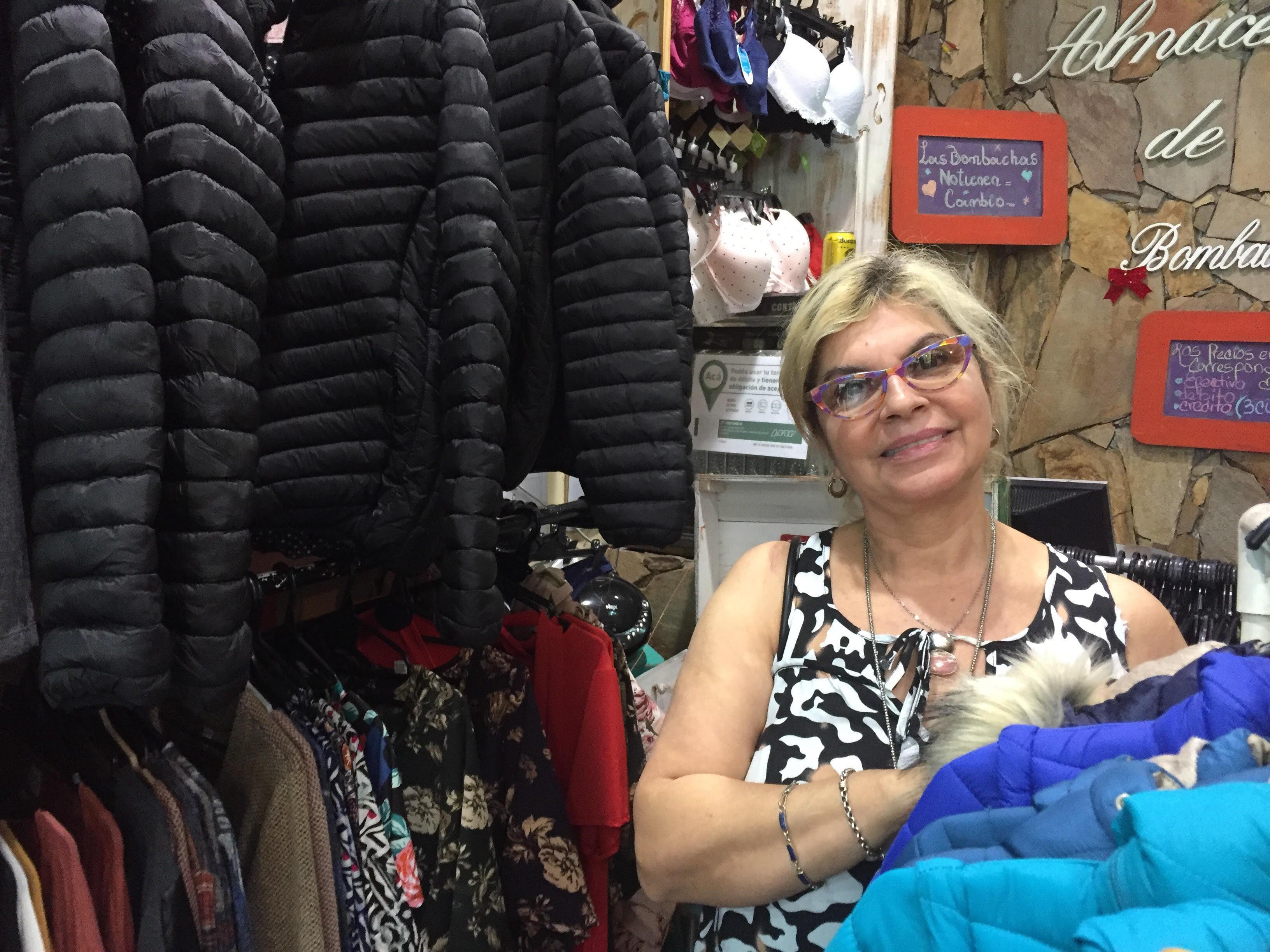 Marylin Pérez, dueña de un local de ropa femenina, Buenos Aires