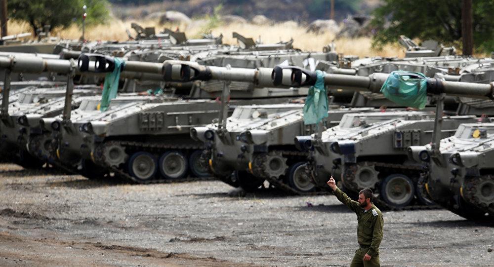 Soldados israelíes en los Altos del Golán