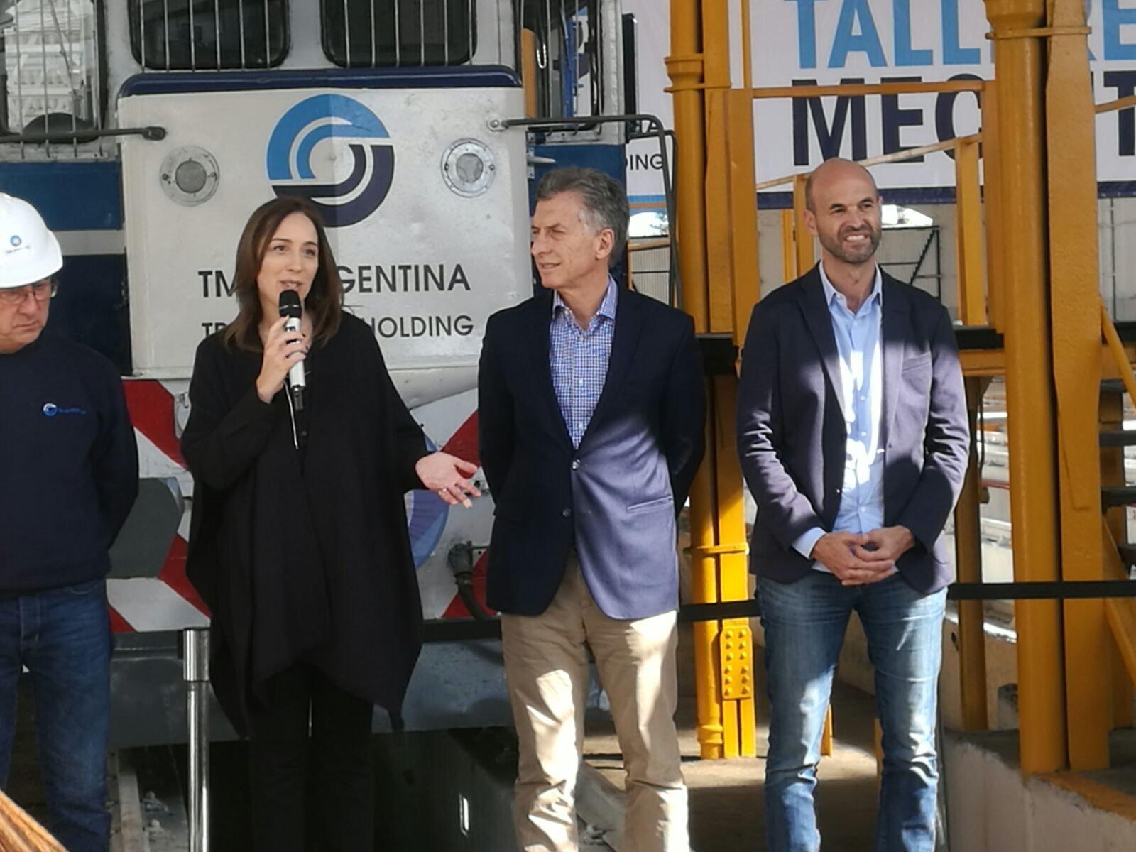 María Eugenia Vidal, gobernadora de la provincia de Buenos Aires agradece a la empresa rusa TMH por invertir en Mechita