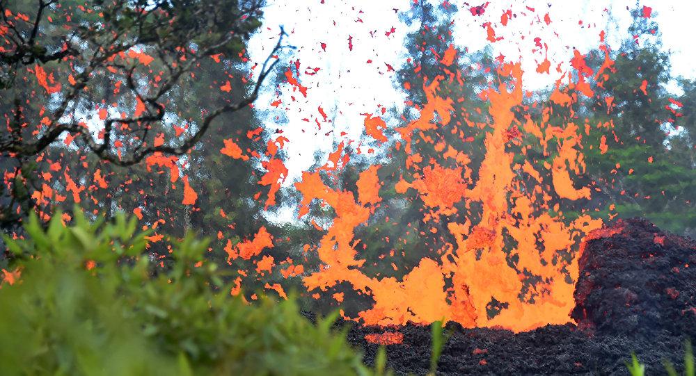 Erupción volcánica en Hawái