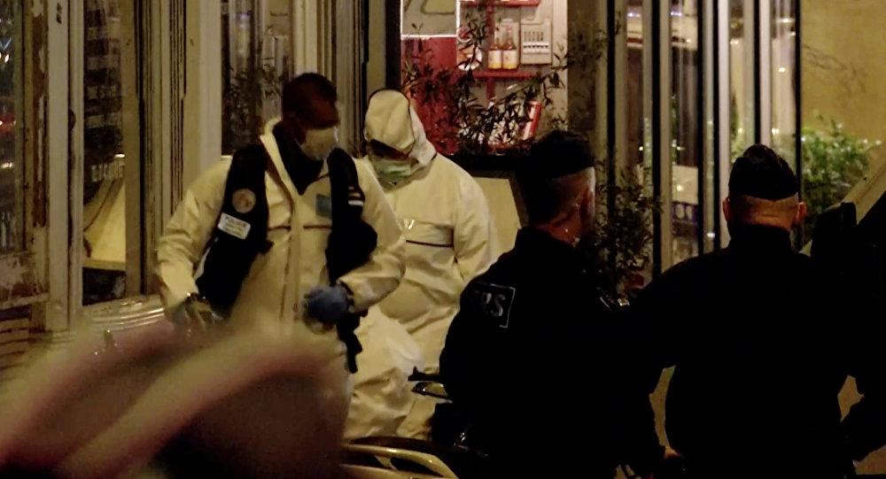 Lugar del ataque con cuchillo en París