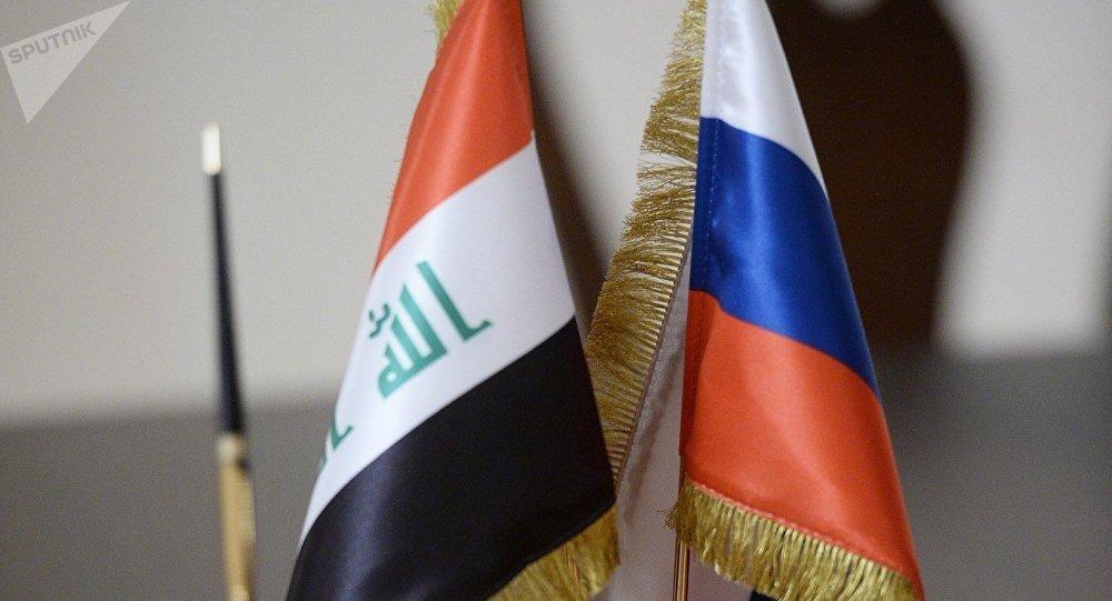 Banderas de Rusia e Irak