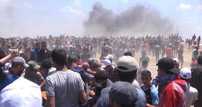 Sangrientos enfrentamientos en Gaza por la inauguración de la Embajada de EEUU en Jerusalén