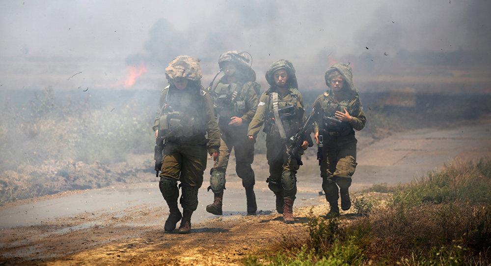 El Ejército de Israel en la frontera con Gaza