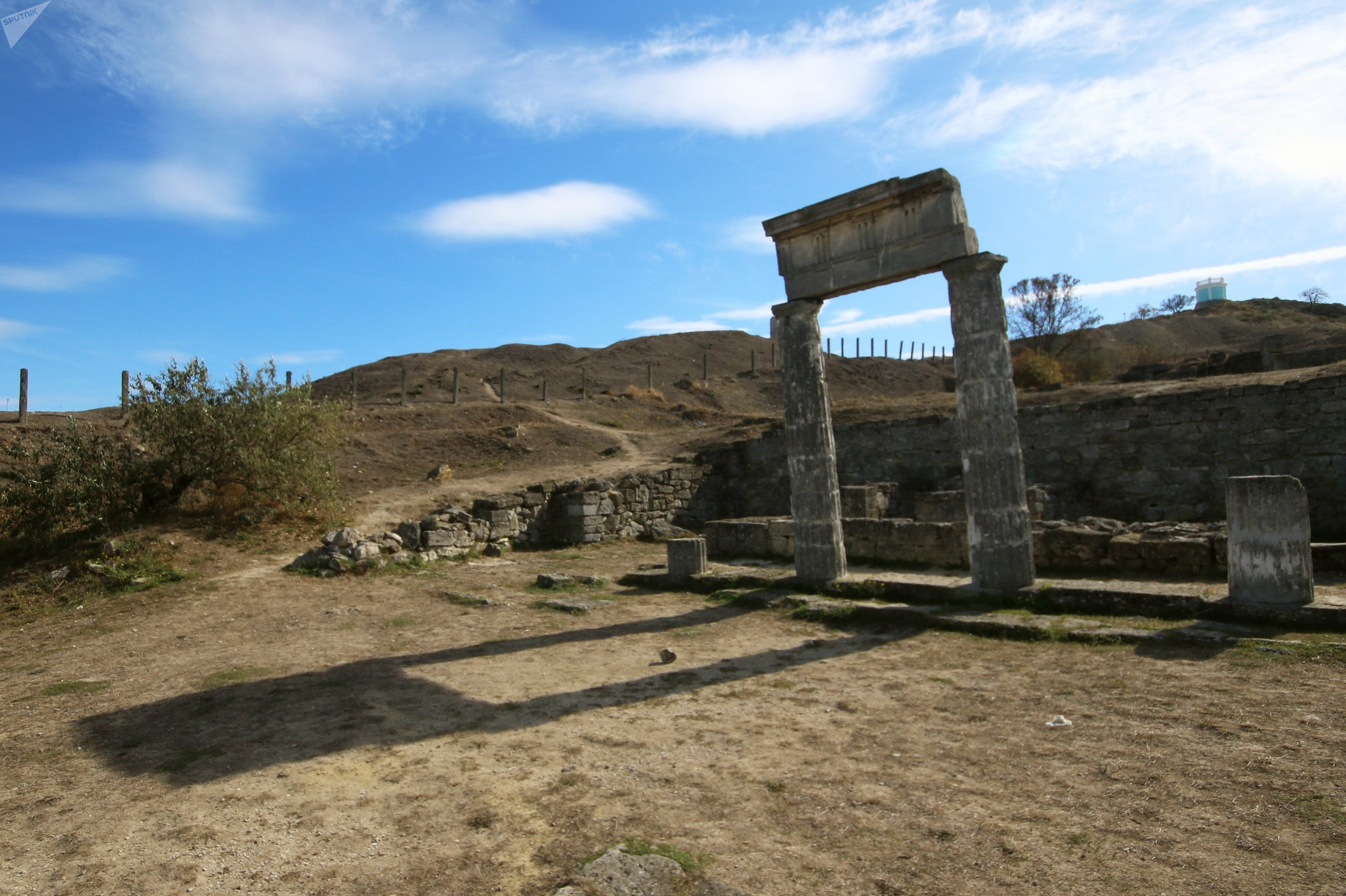 Panticapea, las ruinas antiguas en la ciudad de Kerch