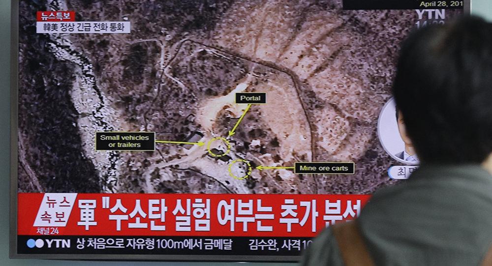 Imágen satelital dell centro de ensayos nucleares de Punggye-ri (Archivo)