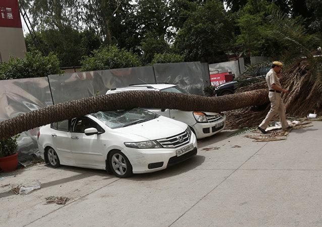 Las consecuencias de una tormenta en la India