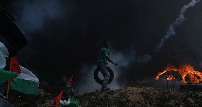 Protestas en Gaza