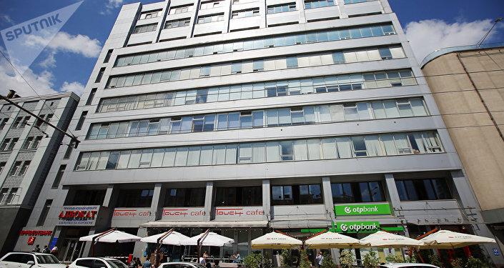 El edificio de la agencia de noticias rusa RIA Novosti Ukraina